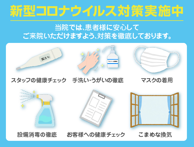当院のコロナウイルス感染症対策